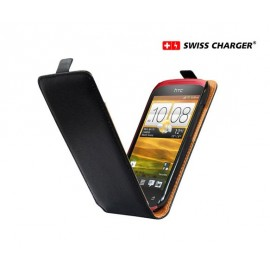Etui HTC One M7 cuir noir
