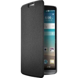 Etui LG G3 folio slim noir Effet cuir grainé