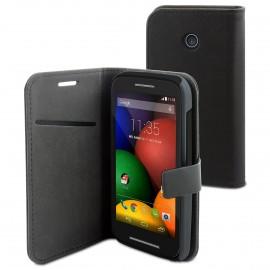 Etui Motorola E Folio Noir slim simili
