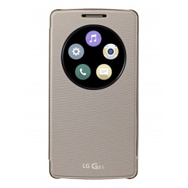 Etui LG G3s folio Or CCF-490G QUICK WINDOW CIRCLE