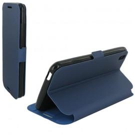 Etui HTC Desire 816 Book case stand Bleu nuit
