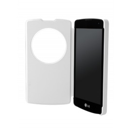 Etui LG L Fino D290 folio Blanc CCF-550 QUICK WINDOW