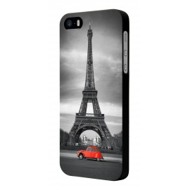 Coque Orange HI 4G motif tour eiffel 2CV