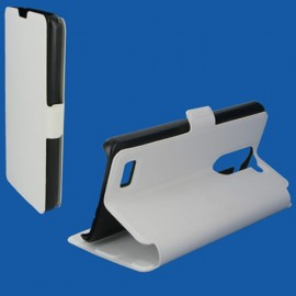 Etui LG L Bello L80 folio Blanc stand