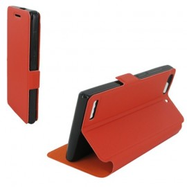 Etui Huawei G6 4G Folio Orange Synthétique