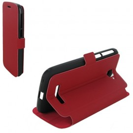 Etui Alcatel one touch pop c7 7040 stand rouge