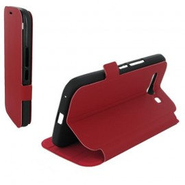 Etui Alcatel one touch pop c9 7047d stand rouge