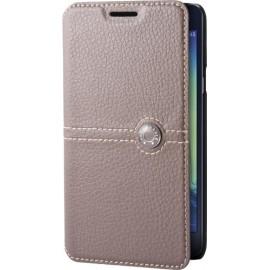 Etui Samsung Galaxy Ace 4 g357 folio Façonnable taupe
