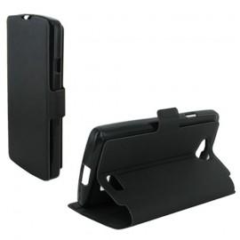 Etui LG F60 stand case noir