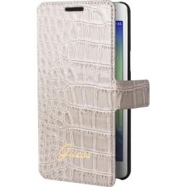 Etui Samsung Galaxy A5 A500 Guess effet croco beige folio
