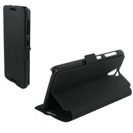 Etui HTC Desire 620 Book case stand noir