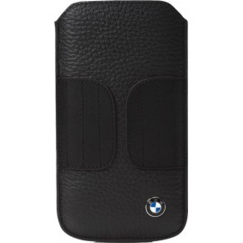 Etui universel BMW taille S en cuir grainé noir