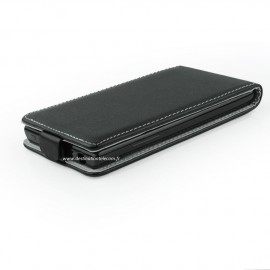 Etui Huawei P8 Lite noir flip