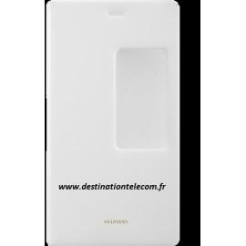 Etui Huawei P8 folio blanc origine Huawei