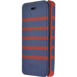Etui iPhone 5 / 5S / SE Marinière Jean Paul Gaultier bleu rouge