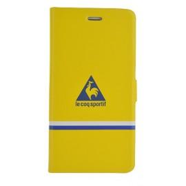 Etui iphone 6/6s Coq Sportif réversible jaune et bleu folio