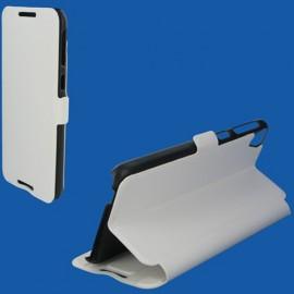 Etui HTC Desire 820 Book case stand blanc