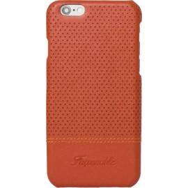 Coque iPhone 6/6S Façonnable orange micro perforée rigide