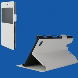 Etui Huawei P8 lite Folio vision blanc
