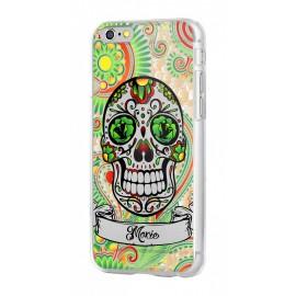 Coque iphone 6/6s crâne de mort vert