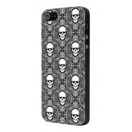 Coque iphone 6/6s multi skull noir