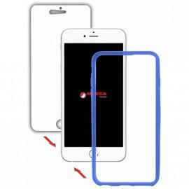 Coque iphone 6 plus / 6s plus intégrale bleue