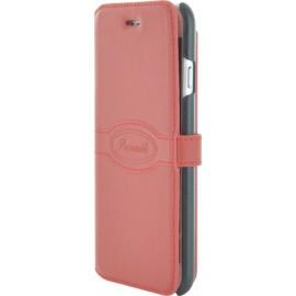 Etui iphone 6/6s Façonnable folio Rouge Pastel