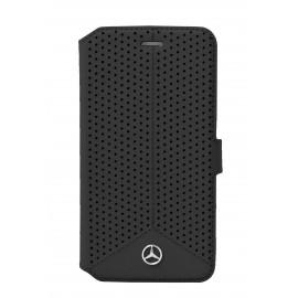 Etui iphone 6/6s Mercedes Folio Perforé noir