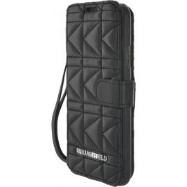 Etui Samsung Galaxy S5 G900 Karl Lagerfeld noir matelassé