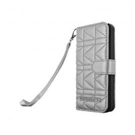 Etui Samsung Galaxy S5 G900 Karl Lagerfeld gris matelassé