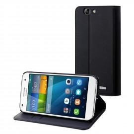 Etui Huawei P8 slim'n'stand folio noir Muvit