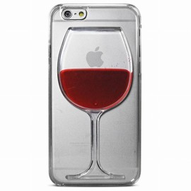 Coque iphone 6/6s crystal verre de vin en relief