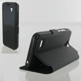 Etui Huawei Y5/Y560 Folio vision noir Synthétique