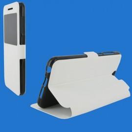 Etui HTC One A9 folio stand vision blanc