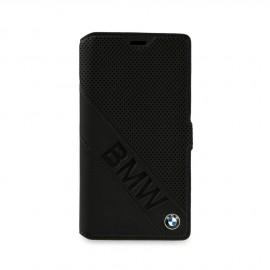 Etui Sony Xperia Z5 BMW folio noir micro perforé