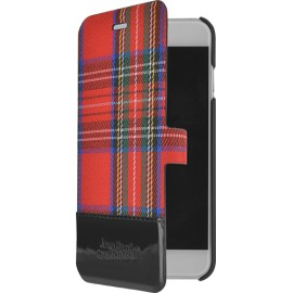 Etui iPhone 6 Plus / 6S Plus Folio Tartan rouge Jean Paul Gaultier