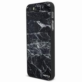 Coque iphone 5 / 5S / SE rubber marbre noir
