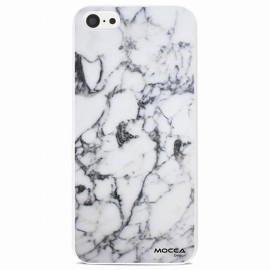 Coque iphone 5C rubber marbre blanc