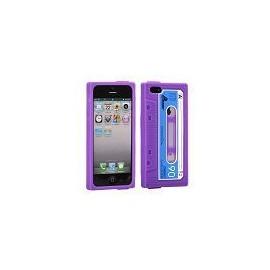 Coque iphone 5 / 5s / SE Façon K7 violette