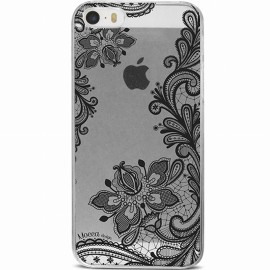 Coque iphone SE crystal motif Dentelle