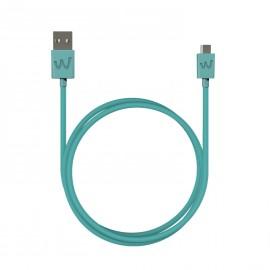 WIKO CABLE USB / MICRO-USB 2M TURQUOISE ORIGINE WIKO