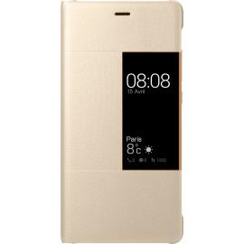 Etui Huawei P9 folio doré origine Huawei
