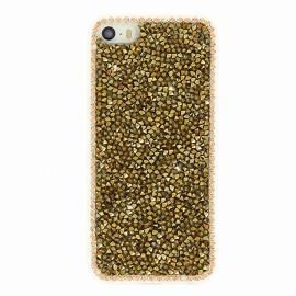 Coque iphone 5 / 5s / SE Gel diamant gold