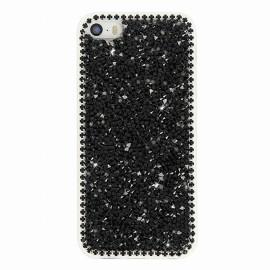 Coque iphone 5 / 5s / SE Gel diamant noir