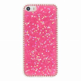 Coque iphone 5 / 5s / SE Gel diamant rose