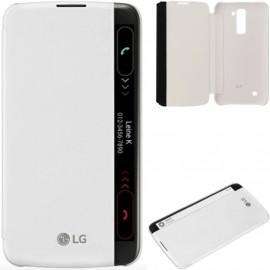 Etui folio LG K10 LTE CFV-150 origine LG blanche
