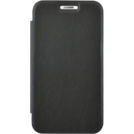 Etui Huawei P9 folio noir et arrière transparent
