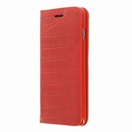 Etui iphone 6 plus / 6s plus folio croco rouge