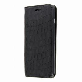 Etui iphone 6 plus / 6s plus folio croco noir