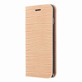 Etui iphone 6 plus / 6s plus folio croco rose